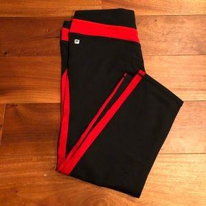 Fabletics Leggings | Red and Black | Size Medium